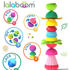 Lalaboom 2 Sensory Balls & 4 Educational Beads