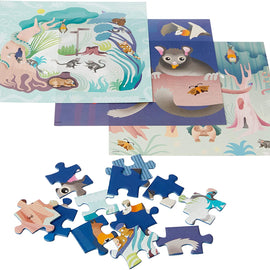 Blue Opal Wild Australia Lead Beater's Possums Puzzle, 3 X 49 Pieces