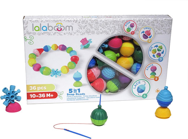 LALABOOM 36 PCS BEADS AND ACCESSORIES