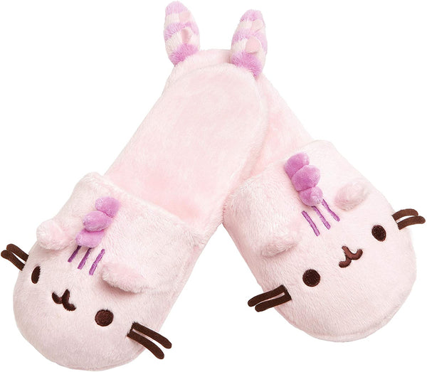 PUSHEEN PLUSH SLIPPERS - COTTON CANDY
