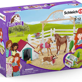 Schleich Hannah's Guest Horses with Ruby The Dog Playset - SC42458