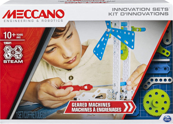 Meccano 19601 - Geared Machines S.T.E.A.M. Building Kit with Moving Parts, for Ages 10 and Up