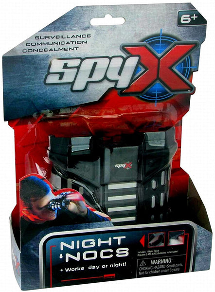 SpyX / Night Nocs - Binocular Spy Toy with White or Red Light to See in The Dark.