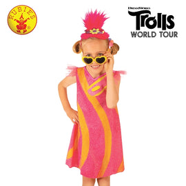 POPPY DELUXE TROLLS 2 POP COSTUME, ( 4-6 YRS )