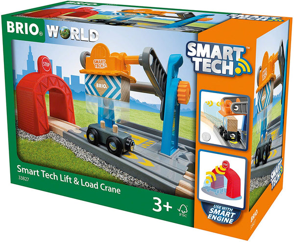 BRIO Smart Tech - Smart Lift & Load Crane Train Set, Multicoloured