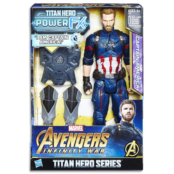 Marvel AVENGERS - Captain America - Titan Hero Power FX Action Figure - Kids Super Hero Toys