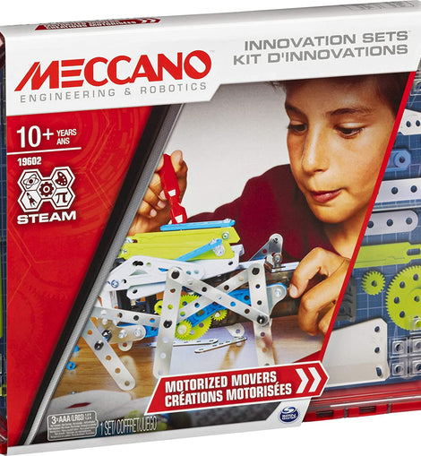 Meccano 19602 - Motorized Movers S.T.E.A.M. Building Kit with Animatronics, for Ages 10 and Up