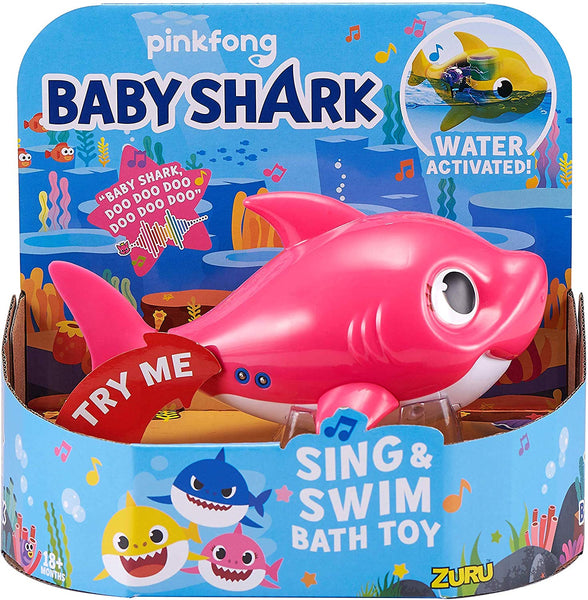 Robo Alive Junior Baby Shark Battery-Powered Sing and Swim Bath Toy by ZURU