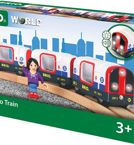 Brio Metro Train with Sound & Lights, 4 Pieces - BRI33867