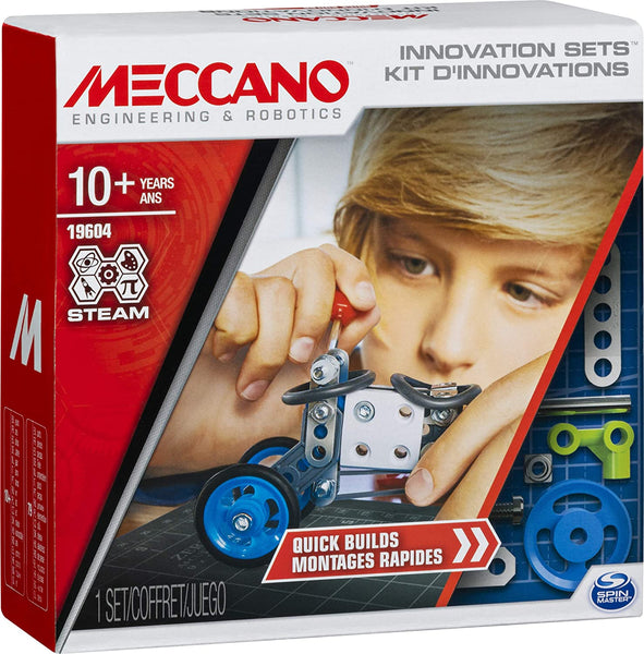 Meccano 19604 - Quick Builds, S.T.E.A.M. Building Kit with Real Tools, for Ages 8 and Up
