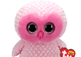 TY Twiggy the Pink Owl (large)