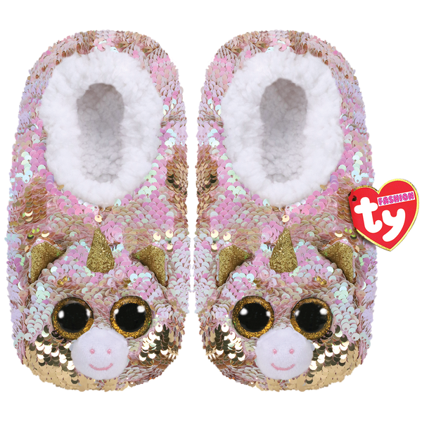 TY Beanie Boo Fantasia - Slipper Socks -  Colour changing reversible sequins - Small/Medium/Large