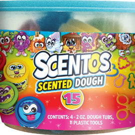Scentos Scented Dough & Tools In Tub  15Pack