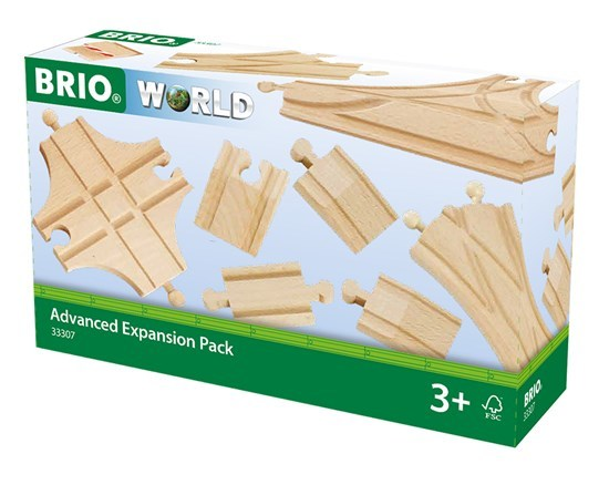 BRIO 33307 Advanced Expansion Pack, 11 Pieces Train track Set,