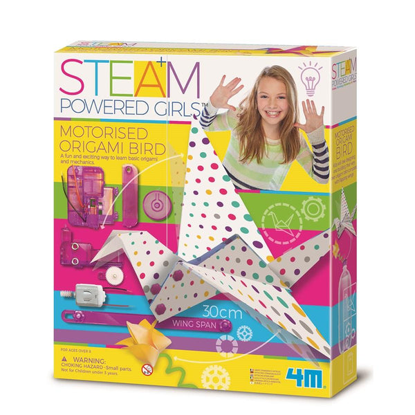 4M - STEAM POWERED GIRLS - MOTORISED ORIGAMI BIRD
