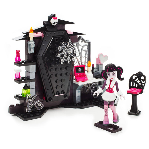 Mega Bloks Monster High Draculaura's Vamptastic Room Building Set - ToyRoo
