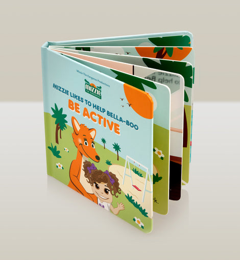 'Be Active' Interactive Touch and Feel Mizzie Baby Board Book