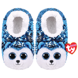 TY Beanie Boo Slush - Slipper Socks -  Colour changing reversible sequins - Small/Medium/Large