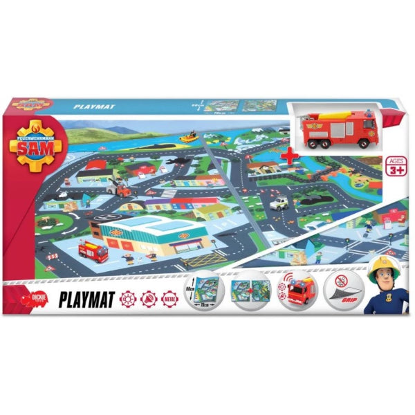 Dickie Toys  Play Mat Fireman Sam-Pontypandy with Fire Engine - ToyRoo