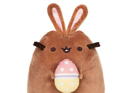 GUND PUSHEEN CHOCOLATE EASTER BUNNY PLUSH STUFFED ANIMAL CAT, 9.5""