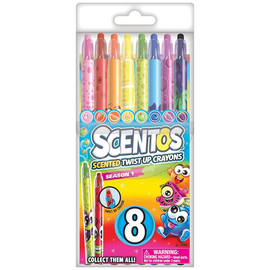 8pc Scentos Scented Twist Up Crayons