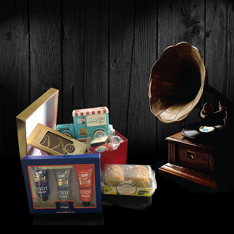 Image of Deluxe Mens Treats Gift Set. Perfect Valentines Gifts for Men