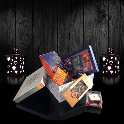 Image of Mens Deluxe Treats Gift Box. Luxury Valentines Gifts for Men