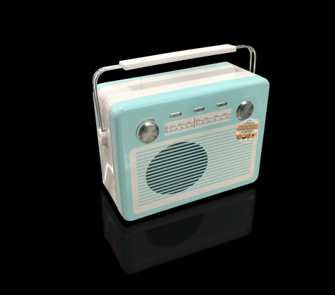 Image of Mens Vintage Radio Nibbles Gift Tin.  One of our luxury gifts for men.
