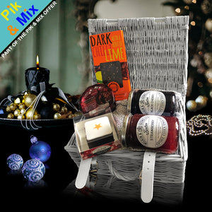 The Taste of Christmas Gift Basket.  Indulgent Gourmet Holiday Gift Basket for Christmas gift ideas.
