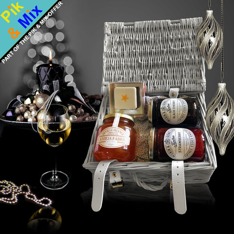 The Mistletoe Christmas Gift Basket. A great Christmas Holiday Gift for him or her.