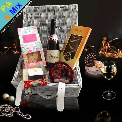 Image of The Home for the Holidays Gift Basket.  Perfect Christmas Holiday Gifts for her.