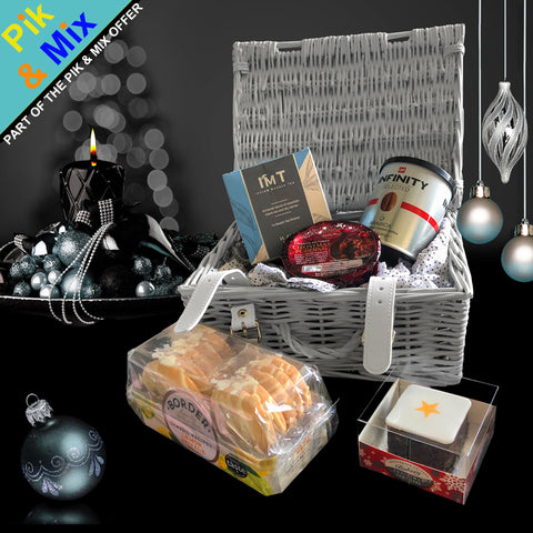 Image of The Happy Holidays Gift Basket.  Part of Our Pik & Mix Collection.