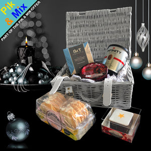 The Happy Holidays Gift Basket.  A great Christmas holiday gift for him.