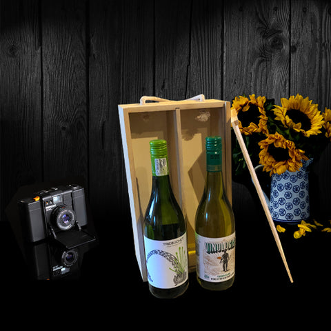 Image of The Sunnyvale Wine Gift Box.  A Perfect Corporate Gift for Clients and Employees.