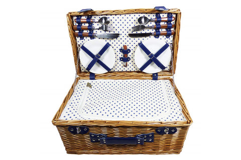 The Lonsdale Wicker 4 Person Picnic Basket.  A great gift basket for the family.