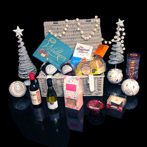 The Holly Berry Christmas Gift Basket. Beautiful Christmas Holiday Gifts.