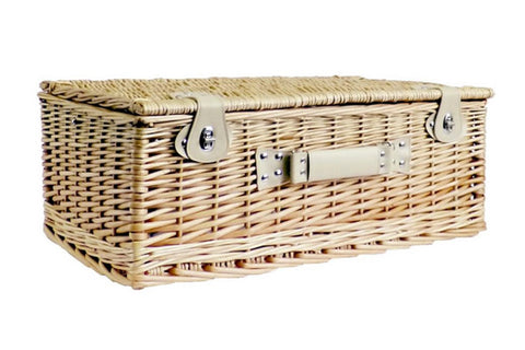 Image of The Sutton Wicker 4 Person Picnic Basket. The perfect picnic basket for all occasions.