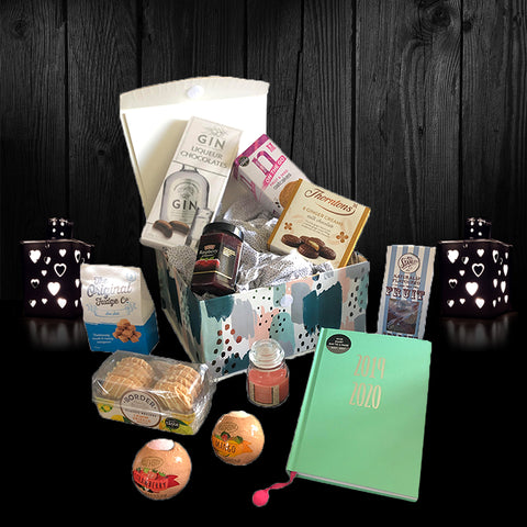 Image of The We Are Living Our Adventure Gift Box.  A beautiful collection of perfect birthday gifts for her.