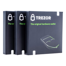 Load image into Gallery viewer, Trezor One Cryptocurrency Hardware Wallet White - Securely Stores Cryptocurrency Private Keys & Passwords. Quick & Easy to Use for Windows, macOS, Linux. Instructions & USB Cable Included.