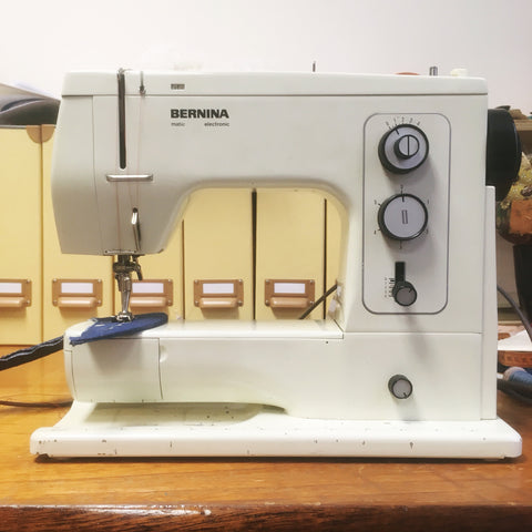 Bernina sewing machine used for the cap production