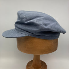 Blue-grey fisher cap side view