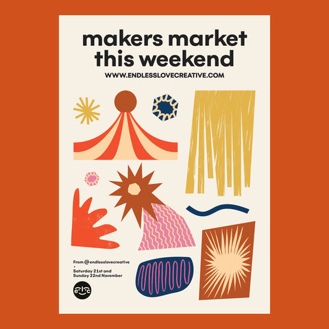 Endless Love Creative Winter Makers Market poster