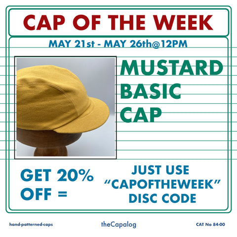 Mustard Basic Cap offer 20% off before 26th May 2021