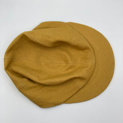 Mustard yellow denim basic cap with topstitch detail from the capalog