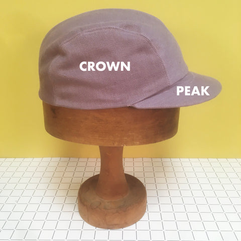 Basics of cap lingo - which is the crown, where is the peak?