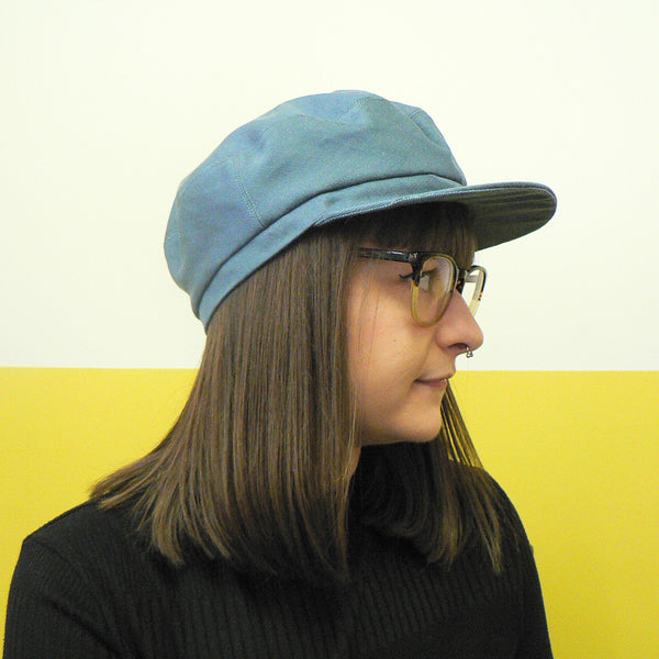 Blue Grey Denim Fisher Cap