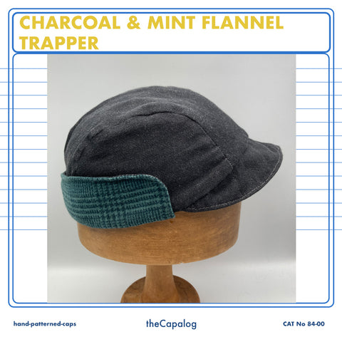 Charcoal Flannel Trapper Cap