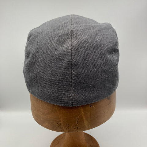 Back view of Grey Canvas Basic Cap