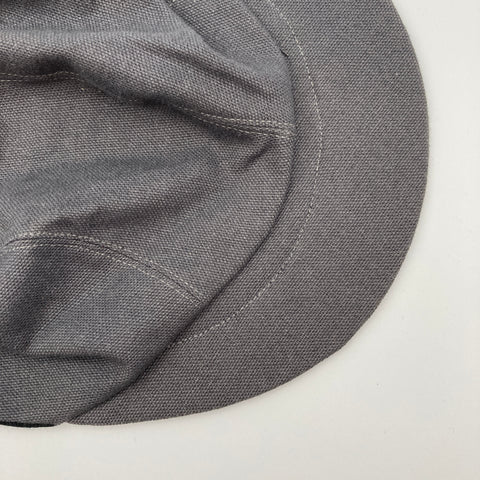 Flat lay view of Grey Canvas Basic Cap