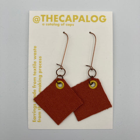 Orange/Yellow Eyelet Offcuts Earrings
